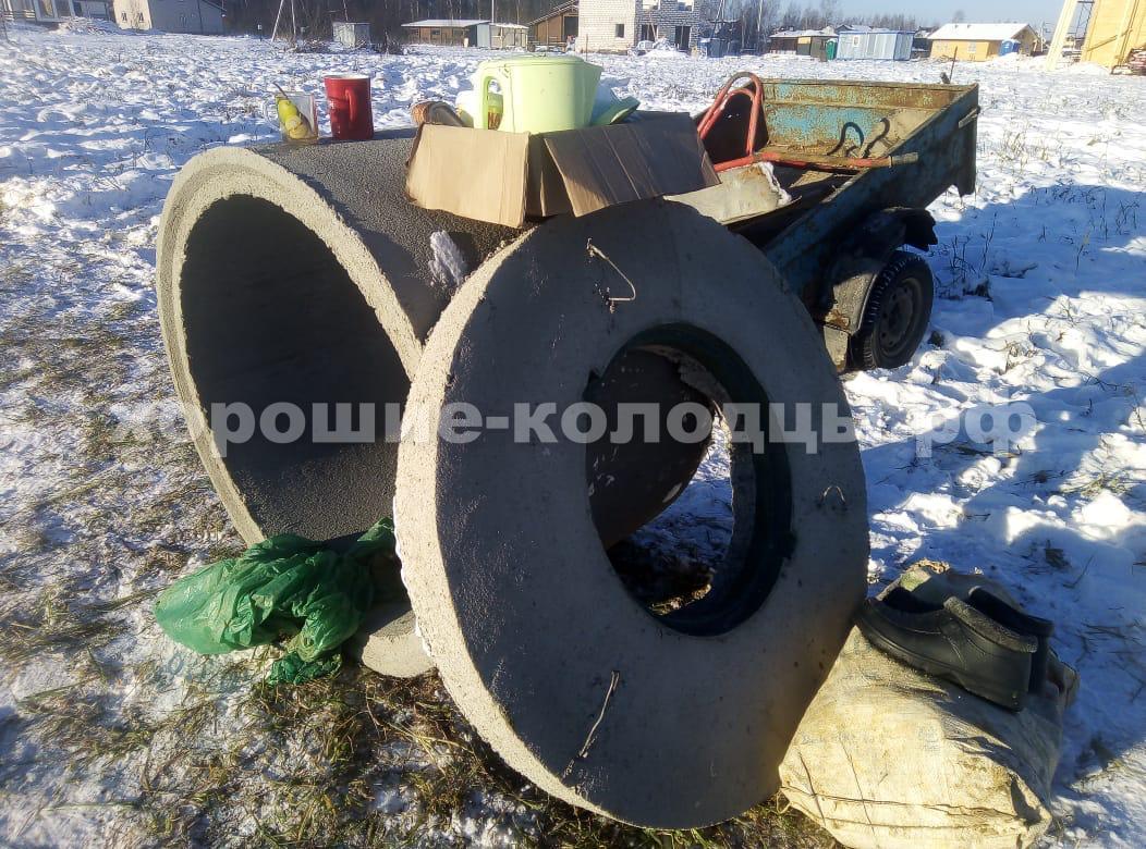 Колодец на воду 9 колец в КП Пятница, Волоколамский р-н, Подмосковье.