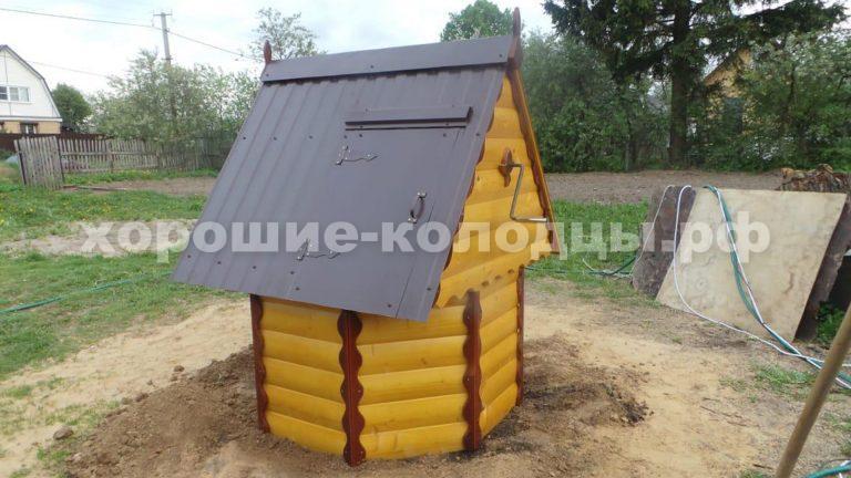 Колодец на воду 7 колец в СНТ Лудино Гора, Волоколамский р-н, Подмосковье.