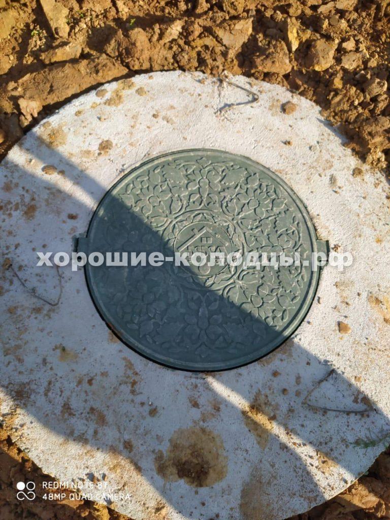 Дренажный септик 4 кольца в д. Нововолкова, Рузский р-н, Подмосковье