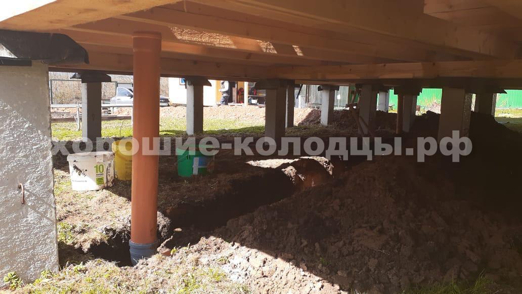 Траншея для слива воды в д. Шишаиха, Истринский р-н, Подмосковье.