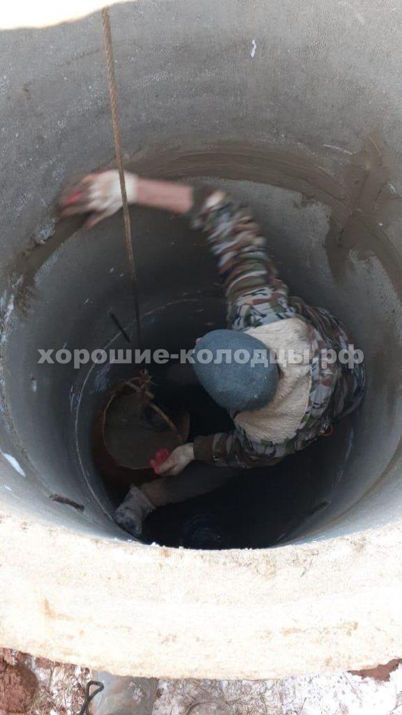 Колодец на воду 10 колец в д. Еремеево, Истринский р-н, Подмосковье.