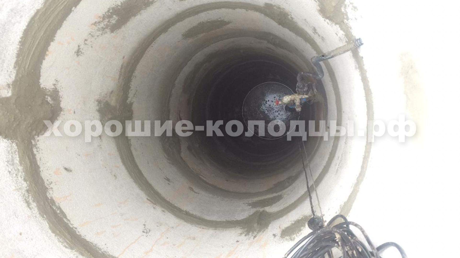 Чистка и ремонт колодца 10 колец в, д. Варвариха, Рузский р-н, Подмосковье.