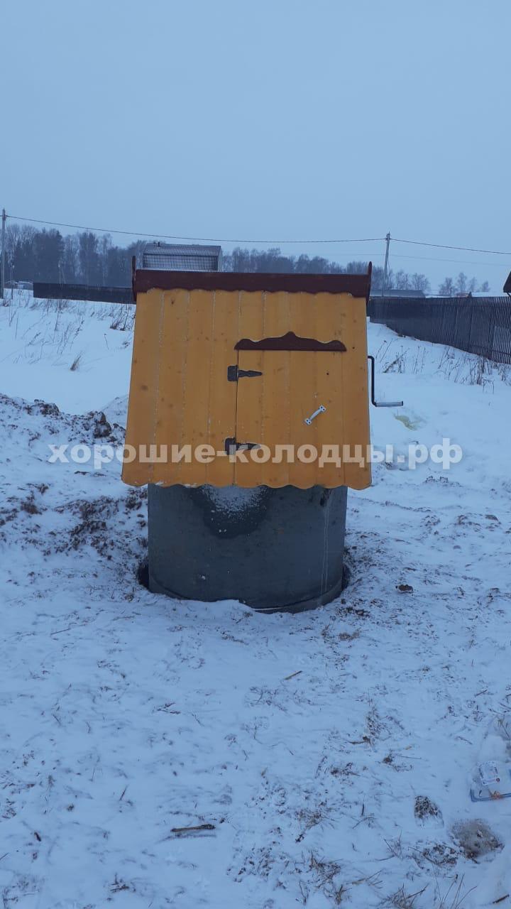Колодец на воду 11 колец в д. Мамошино, Рузский р-н, Подмосковье.
