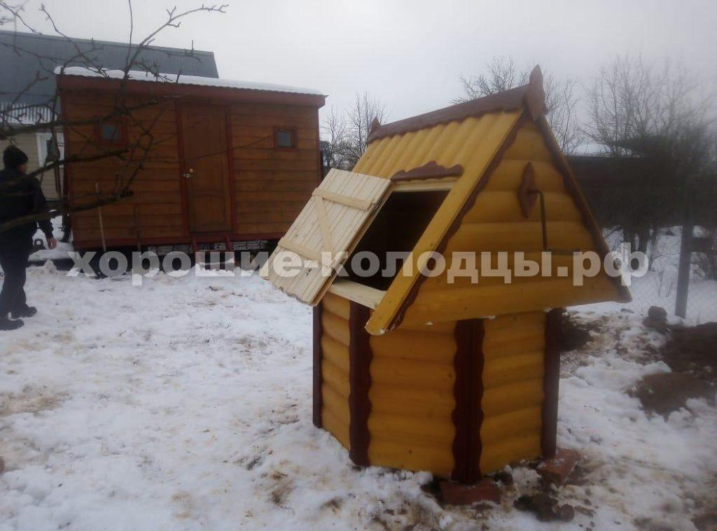 Колодец на воду 13 колец в г. Клин, Клинский р-н, Подмосковье.