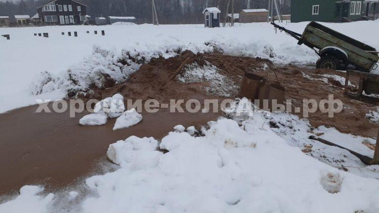 Колодец на воду 7 колец в СНТ Москворечье, Истринский р-н, Подмосковье.