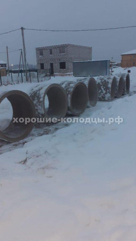 Колодец на воду 7 колец в д. Огникова, Истринский р-н, Подмосковье.