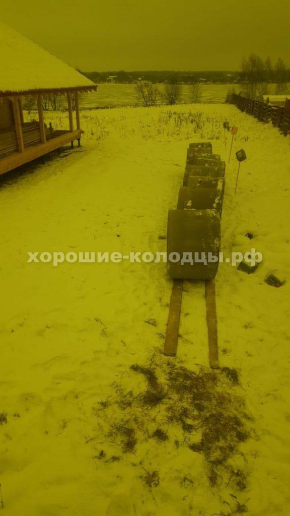 Колодец на воду 8 колец в д. Палашкино, Рузский р-н, Подмосковье.