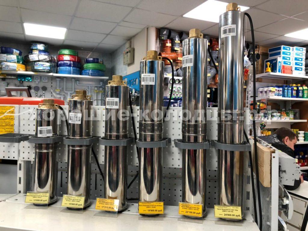 Подбор насоса в магазине Водоворот для заказчика на питьевой колодец в c. Новопетровское, Истринский р-н, Подмосковье.