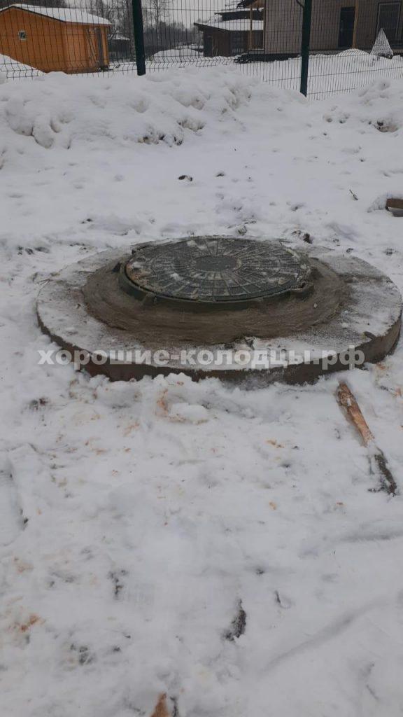 Септик переливной 6 колец в д. Осташова, Волоколамский р-н, Подмосковье