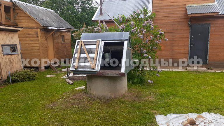 Чистка колодца 13 колец в СНТ Даль, Волоколамский р-н, Подмосковье.