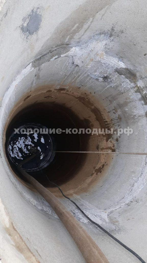 Чистка колодца 14 колец в СНТ Буран, Истринский р-н, Подмосковье