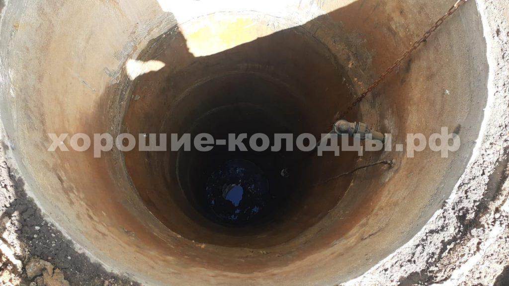 Чистка и ремонт колодца 8 колец в, д. Тиликтино, Клинский р-н, Подмосковье.