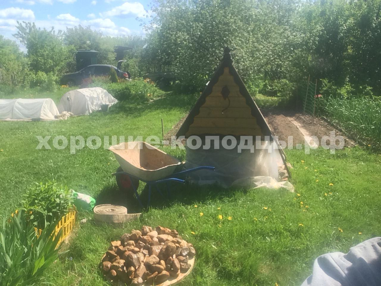 Чистка колодца на воду 9 колец в д. Тетерино, Можайский р-н, Подмосковье.