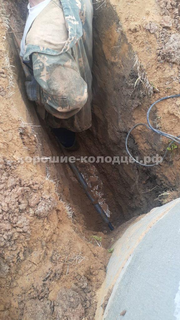 Чистка колодца на воду в кп. Пятница, Волоколамский р-н, Подмосковье.