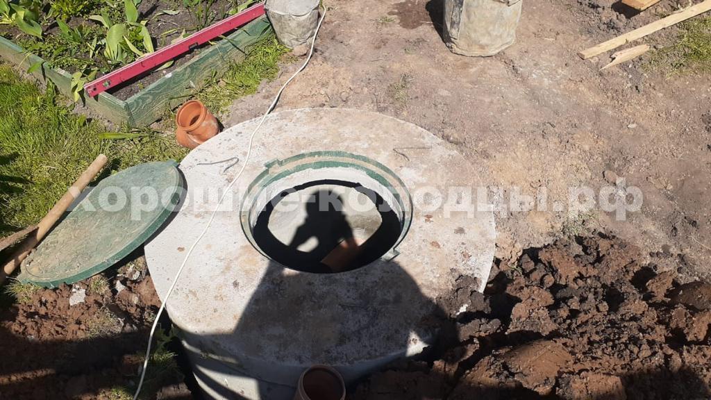 Септик переливной 3 и 4 кольца в д. Городище, Рузский р-н, Подмосковье