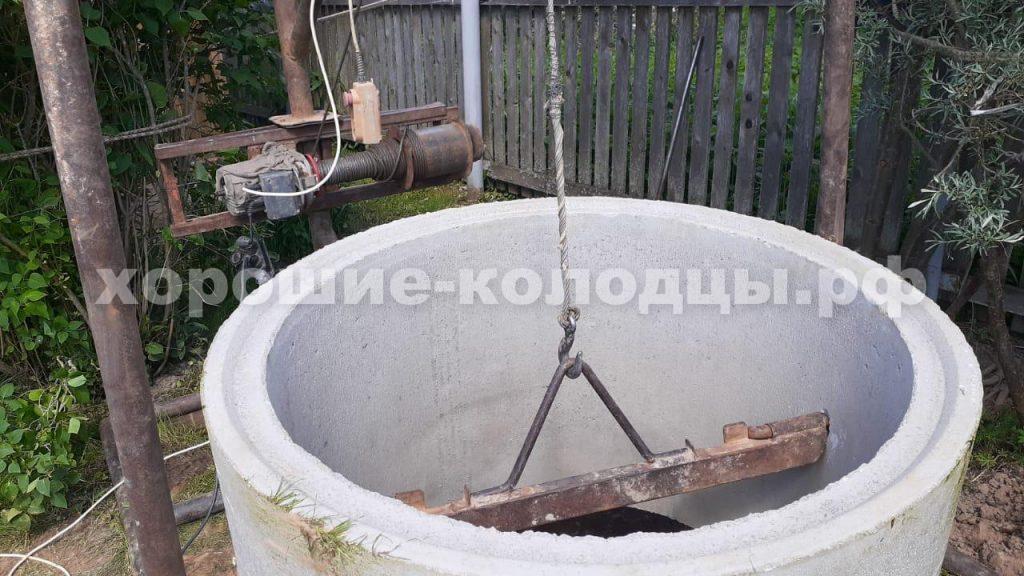 Септик переливной 5 колец в д. Петрово, Рузский р-н, Подмосковье