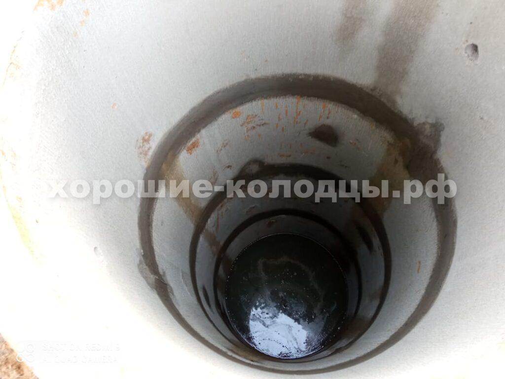 Колодец на воду 8 колец в СТ Красный Октябрь, Истринский р-н, Подмосковье.