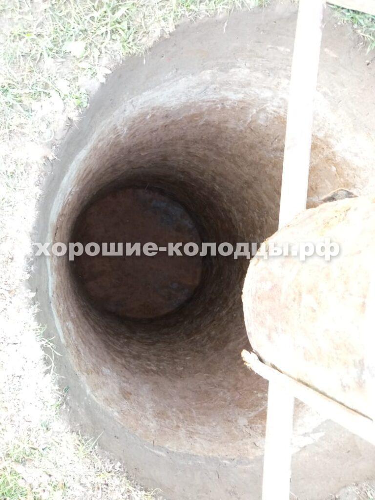 Септик переливной 4 кольца в д. Брикет, Рузский р-н, Подмосковье