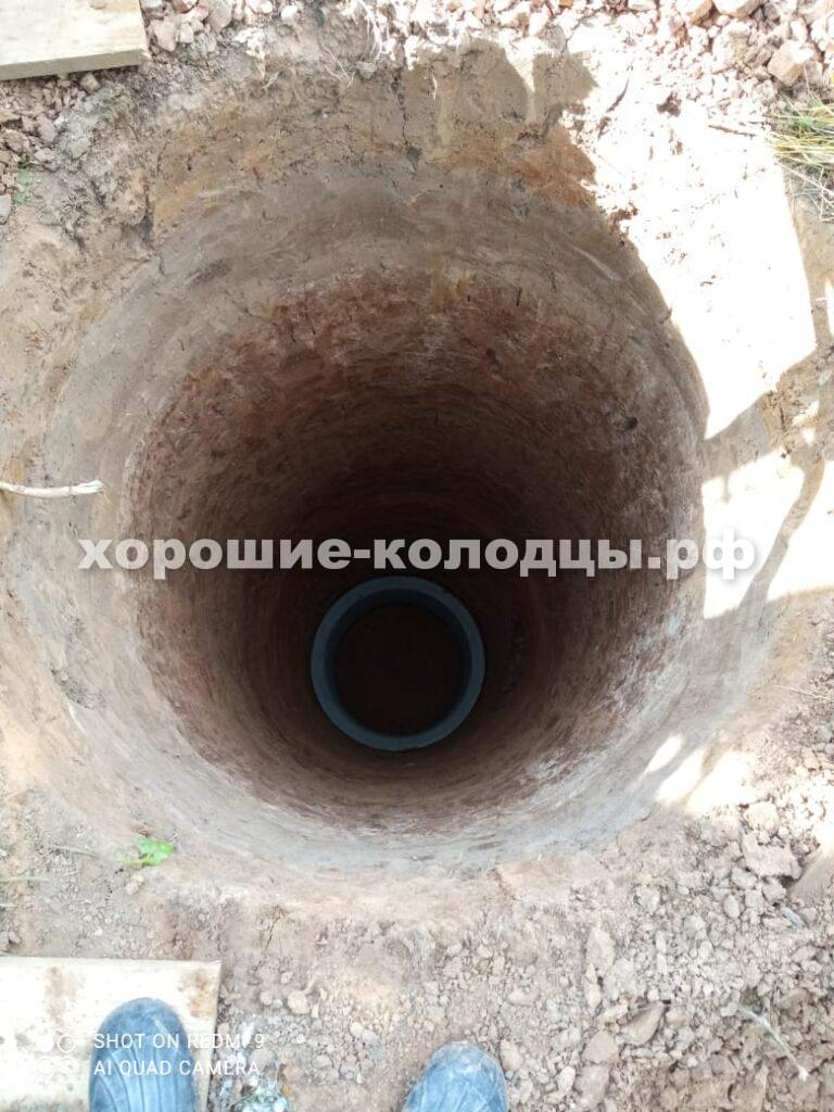 Дренажный септик 7 кольца в д. Брикет, Рузский р-н, Подмосковье