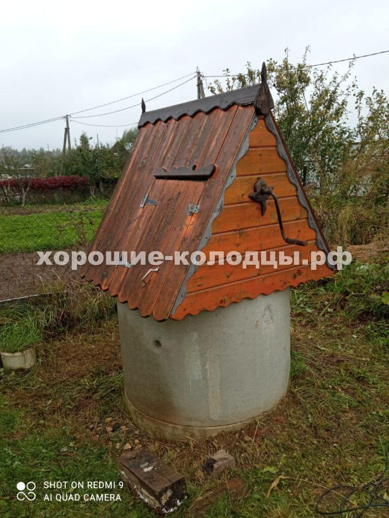 Чистка колодца на воду 7 колец в д. Нововолково, Рузский р-н, Подмосковье.