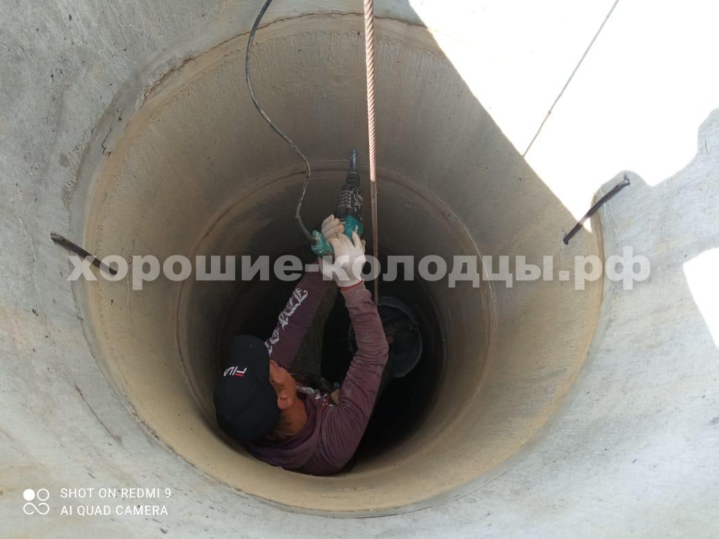 Чистка колодца 8 колец в, СНТ Север, Клинский р-н, Подмосковье.