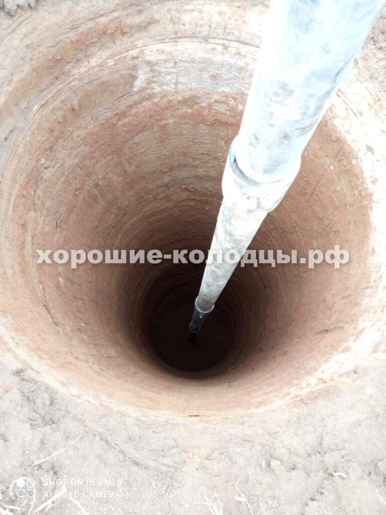 Бурение колодца на воду 12 колец в п. Никольское, Рузский р-н, Подмосковье.