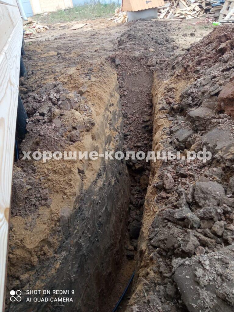 Подводка воды из колодца в дом 12м в д. Брикет, Рузский р-н, Подмосковье